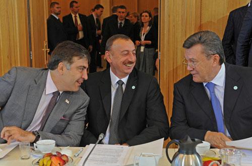 Saakashvili-Aliyev-Yanukovich