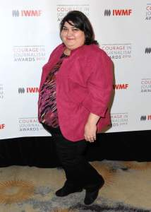 BEVERLY HILLS, CA - OCTOBER 29: Honoree Khadija Ismayilova arrives at the 2012 Courage in Journalism Awards hosted by the International Women's Media Foundation held at the Beverly Hills Hotel on October 29, 2012 in Beverly Hills, California.  (Photo by Allen Berezovsky/WireImage)